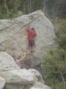 Rock Climbing Photo: I believe this is The Wall. SW Face. Sweet sequenc...