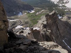 Rock Climbing Photo: From the headwall bypass ramp, you can see almost ...