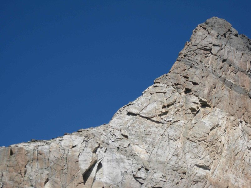 View of the first buttress of the climb.