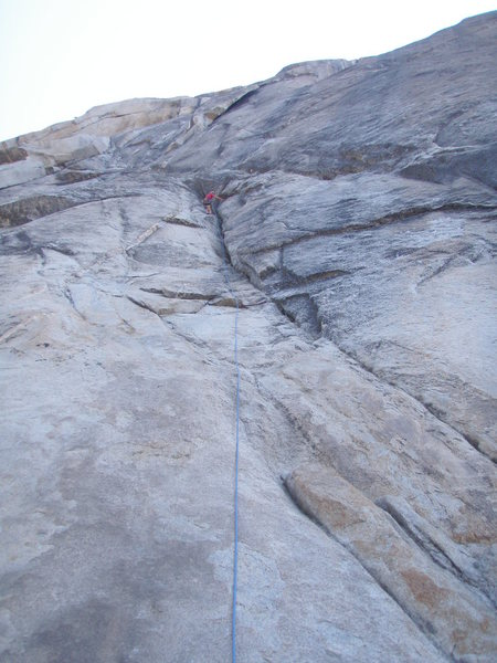 Rock Climbing Photo: David Nimmer at the belay for pitch one.