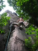 Rock Climbing Photo: A warm and humid Saturday at the West Bluff.  Dmit...