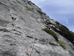 Rock Climbing Photo: Pitch 17 Slab Daddy 5.10