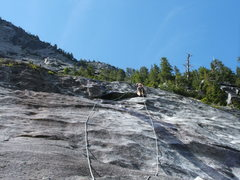 Rock Climbing Photo: Pitch 6 Slab Daddy 5.10