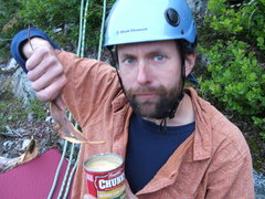 Rock Climbing Photo: Spoons? No way, to heavy. Luckily canned food is l...