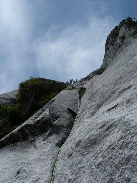 Rock Climbing Photo: Pitch 14 Slab Daddy 5.10
