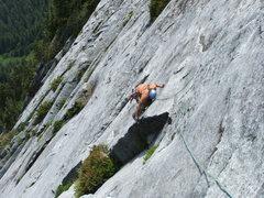 Rock Climbing Photo: Pitch 17 Slab Daddy 5.10