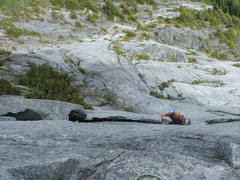 Rock Climbing Photo: Pitch 19 the wide section of Slab Daddy. to bad yo...