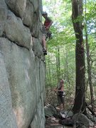 Rock Climbing Photo: The steep opening moves.