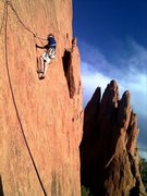 Rock Climbing Photo: Lower Finger Traverse, Garden of the Gods.  Photo ...