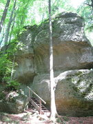 Rock Climbing Photo: Stairs going from the left to the right side of th...