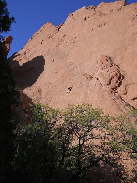 Rock Climbing Photo: Lower Finger Traverse, Garden of the Gods.