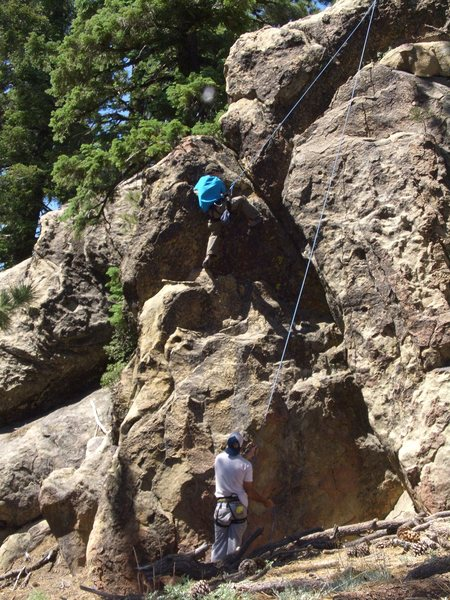 Rock Climbing Photo: Mitchel Boring climbing Matters Not on TR, Pine Mo...