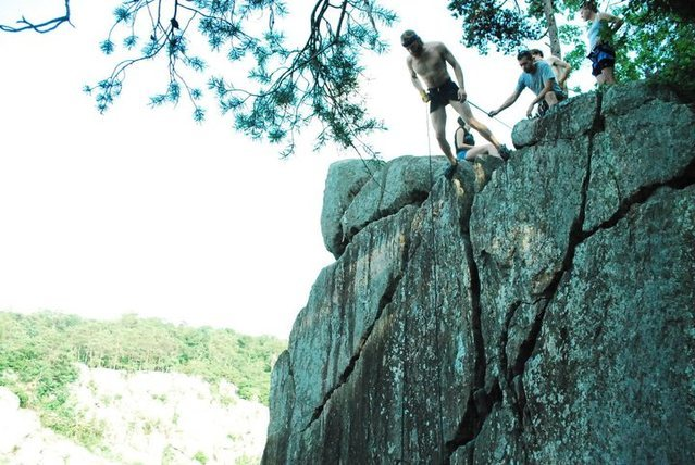 Rock Climbing Photo: first time going aussie. kinda like it, makes the ...