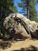 Rock Climbing Photo: Mitchel Boring climbing Free Thinker, Lower Ridge,...