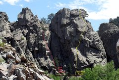Rock Climbing Photo: Standard Route and Pine Tree route.