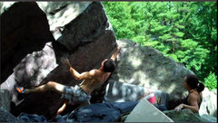 Rock Climbing Photo: The cool second move to a nice sloper.