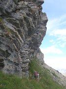 Rock Climbing Photo: Dani using fine technique up some steep climbing