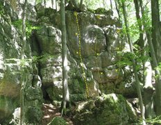 Rock Climbing Photo: The routes start out easy (right) and get harder a...