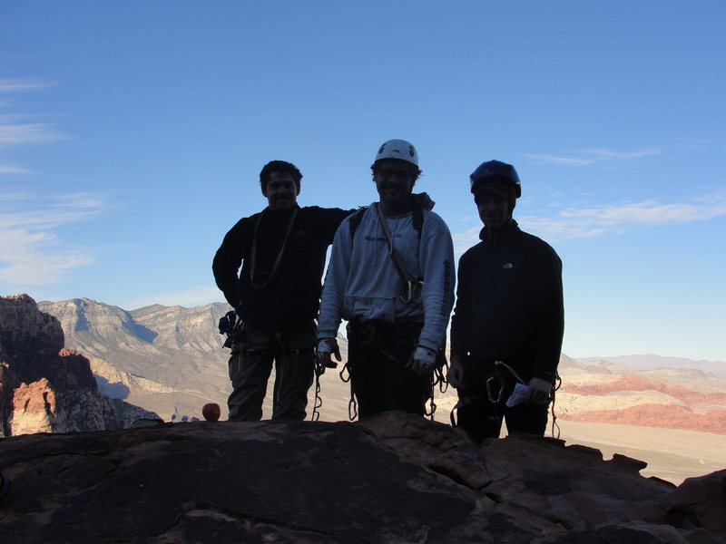 Summit of Crimson Chrysalis, Red Rocks, NV