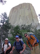 Rock Climbing Photo: About to tag Devils Tower,WY.
