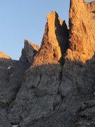 Rock Climbing Photo: Petit Grepon climbs the giant fin feature. Amazing...