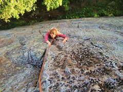 Rock Climbing Photo: Cristin follows at the courtyard - worth the appro...