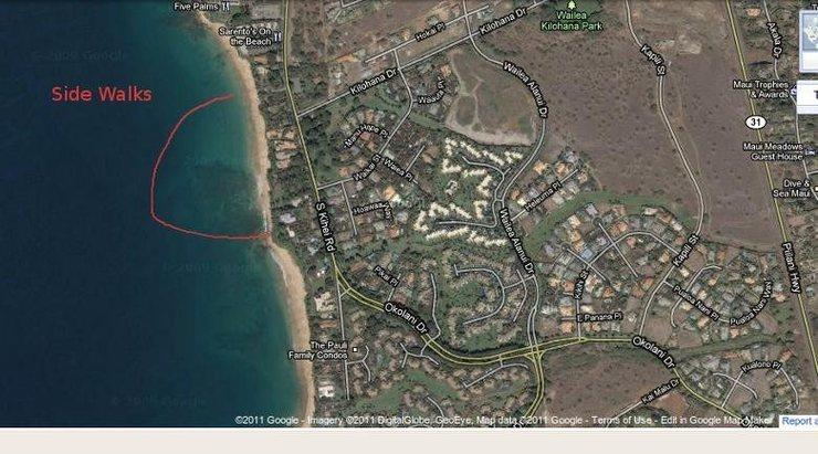 Rock Climbing Photo: Location of 'Side Walks' surf break, Kehei Maui