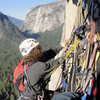 Travis and I at the 5th pitch belay, Skull Queen , Washington Column. Yosemite, CA