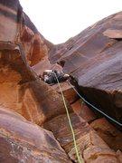 Rock Climbing Photo: Heading up P2.  Photo: Nathan Scherneck