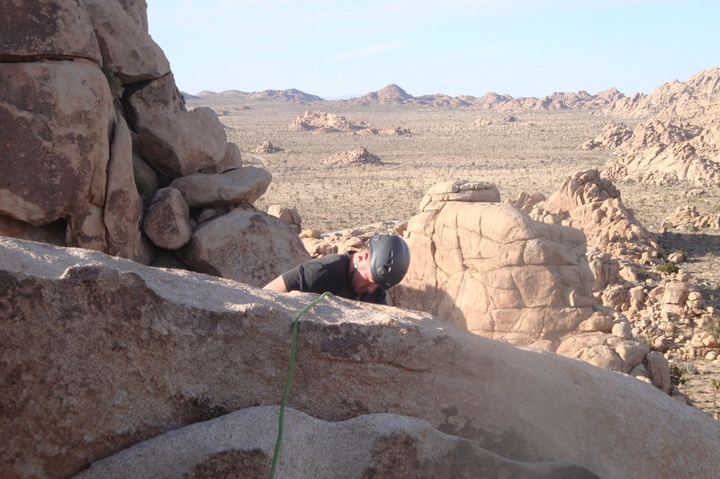 Rock Climbing Photo: My buddy Adam with beautiful Joshua Tree in the ba...