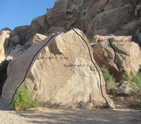 Rock Climbing Photo: North Face climbs the boulder behind the triangle ...