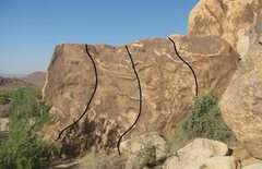 Rock Climbing Photo: Group Camp 1 Boulders West Face.