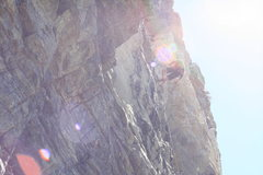 Rock Climbing Photo: Lowering off, bring your 70m rope