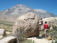 Rock Climbing Photo: buttermilks in august!