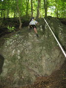 Rock Climbing Photo: Orion's first send.