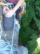 Rock Climbing Photo: we belayed the start of the 3rd pitch of giant's s...