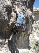 Rock Climbing Photo: Scott on the start of 'Short Stuff'