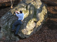 Rock Climbing Photo: Matching. Notice fissure orientations. Lots of neg...