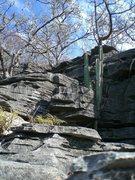 Rock Climbing Photo: At the top of Karrenglass