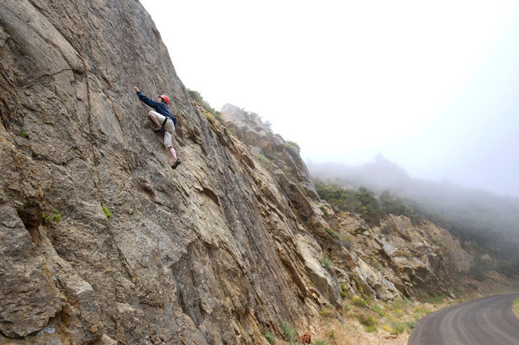 "Rock Climbing Photo: Diane Davis climbs ""The Ecstacy of Gold""..."