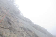 Rock Climbing Photo: The heavy marine layer in Santa Barbara this summe...