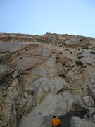 Rock Climbing Photo: looking up the route from the base