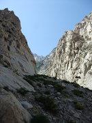 Rock Climbing Photo: looking up Pine Creek Canyon