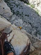 Rock Climbing Photo: Joe on P1