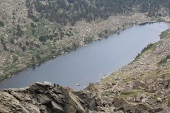 Rock Climbing Photo: The lake and some of the indigenous fauna (pad peo...