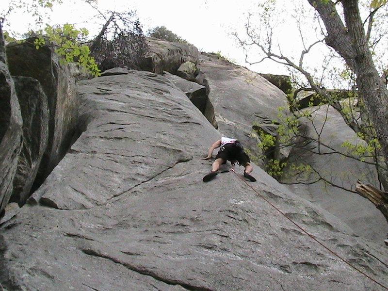Rock Climbing Photo: Leading Born Again.