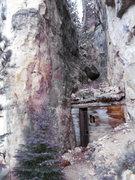 Rock Climbing Photo: dorf, is left of the door