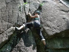 Rock Climbing Photo: start of Gob Hoblin, ADKs