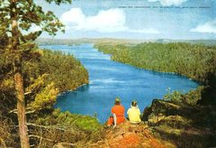 Rock Climbing Photo: Old School postcard of the view atop Caribou Rock.