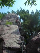 Rock Climbing Photo: Yikes!  Got on this way to late after the sun swun...